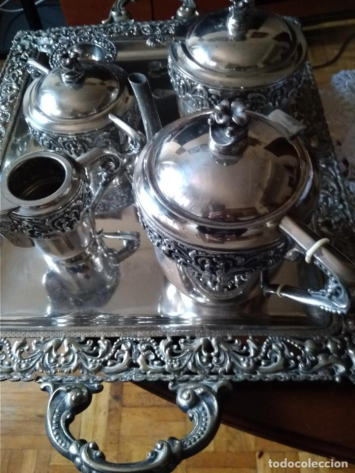 Antigüedades: BONITO JUEGO CAFE O TE EN PLATEADO INGLES DEL SIGLO XIX - Foto 10 - 145820842