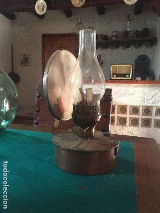 Antigüedades: QUINQUE CON ESPEJO ESTADO ORIGINAL - Foto 2 - 145838886