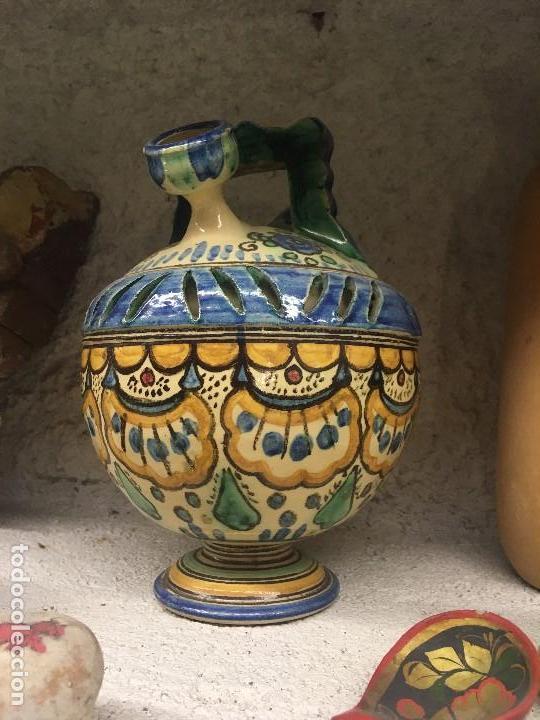 Antigüedades: ORIGINAL BOTIJO DE DOBLE CUERPO PUENTE DEL ARZOBISPO (VER FOTOS) - Foto 3 - 145845742