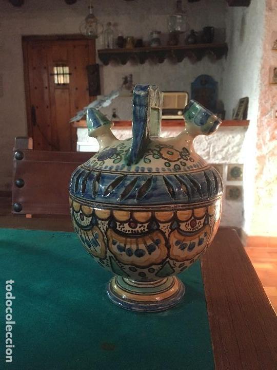 Antigüedades: ORIGINAL BOTIJO DE DOBLE CUERPO PUENTE DEL ARZOBISPO (VER FOTOS) - Foto 4 - 145845742