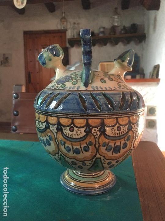 Antigüedades: ORIGINAL BOTIJO DE DOBLE CUERPO PUENTE DEL ARZOBISPO (VER FOTOS) - Foto 5 - 145845742
