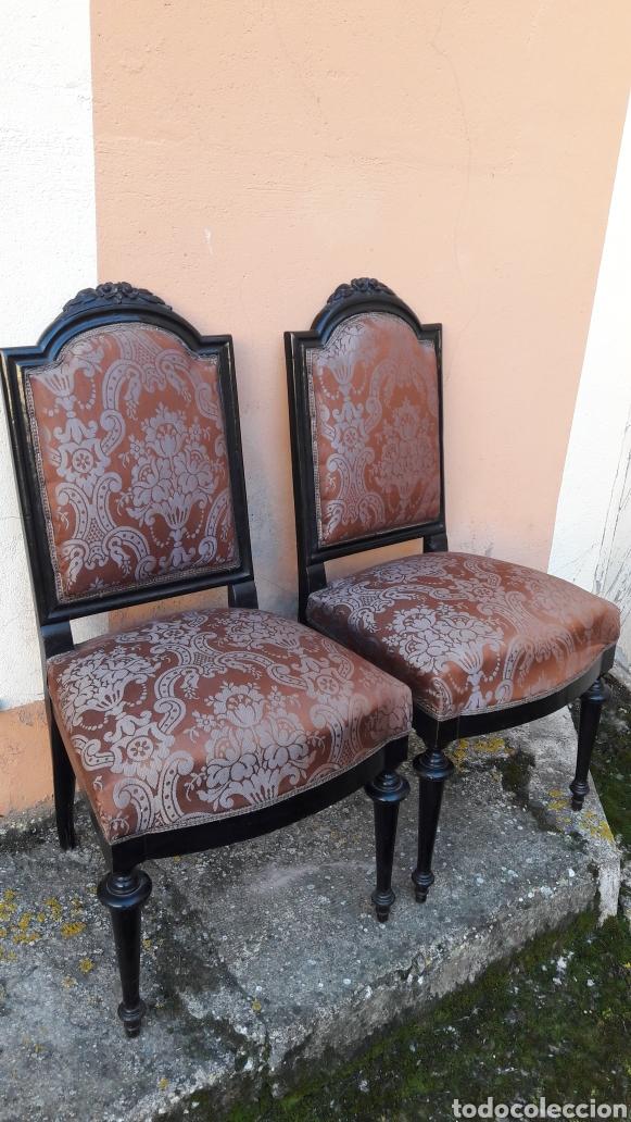 Antigüedades: Antiguas sillas isabelinas - Foto 2 - 145855118