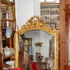 Antigüedades: ESPEJO PAN DE ORO ISABELINO. Lote 145870516