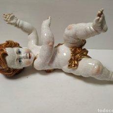 Antigüedades: FIGURA ANGEL DE PORCELANA ALGORA A RESTAURAR. Lote 145873478