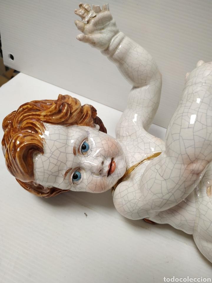 Antigüedades: Figura angel de porcelana Algora a restaurar - Foto 2 - 145873478
