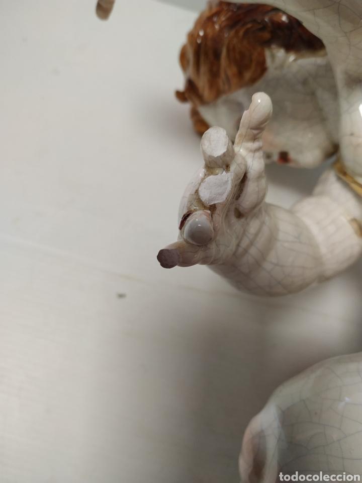 Antigüedades: Figura angel de porcelana Algora a restaurar - Foto 6 - 145873478
