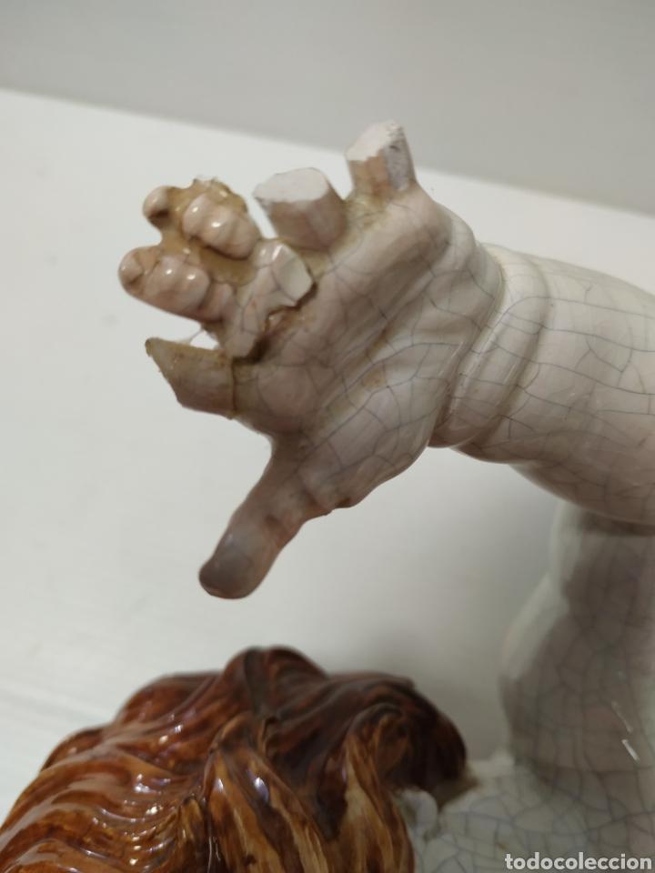 Antigüedades: Figura angel de porcelana Algora a restaurar - Foto 7 - 145873478