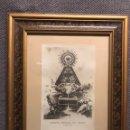 Antigüedades: NUESTRA SEÑORA DEL HENAR. CUÉLLAR (SEGOVIA) ESTAMPA FOTOGRAFÍCA ENMARCADA (H.1940?). Lote 145921664