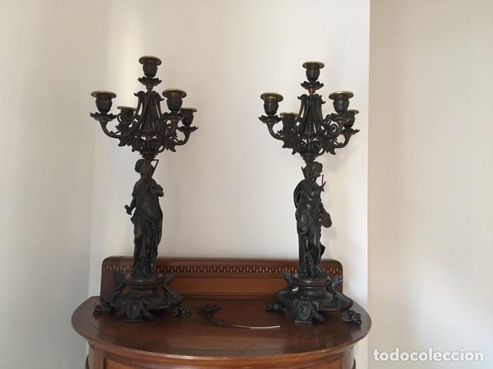 CANDELABROS (Antigüedades - Iluminación - Candelabros Antiguos)