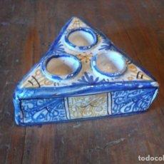 Antigüedades: ESPECIERO PUENTE DEL ARZOBISPO S. XVIII PERFECTO ESTADO. 15 CM DE LADO. . Lote 145943810