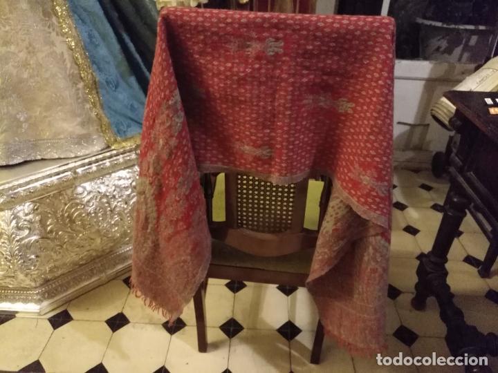 Antigüedades: AUNTENTICO FOULARD HOMBRE MUJER PAÑUELO DE CUELLO LANA PURA - CACHEMIRE .100 X 100 LANA MARCA 3COMA3 - Foto 9 - 145964990