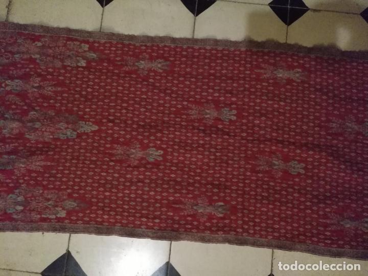 Antigüedades: AUNTENTICO FOULARD HOMBRE MUJER PAÑUELO DE CUELLO LANA PURA - CACHEMIRE .100 X 100 LANA MARCA 3COMA3 - Foto 12 - 145964990