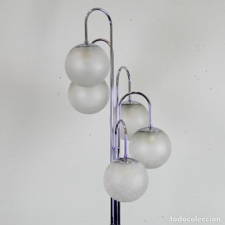 Antigüedades: Lámpara de pie de 5 tulipas. - Foto 2 - 145997326