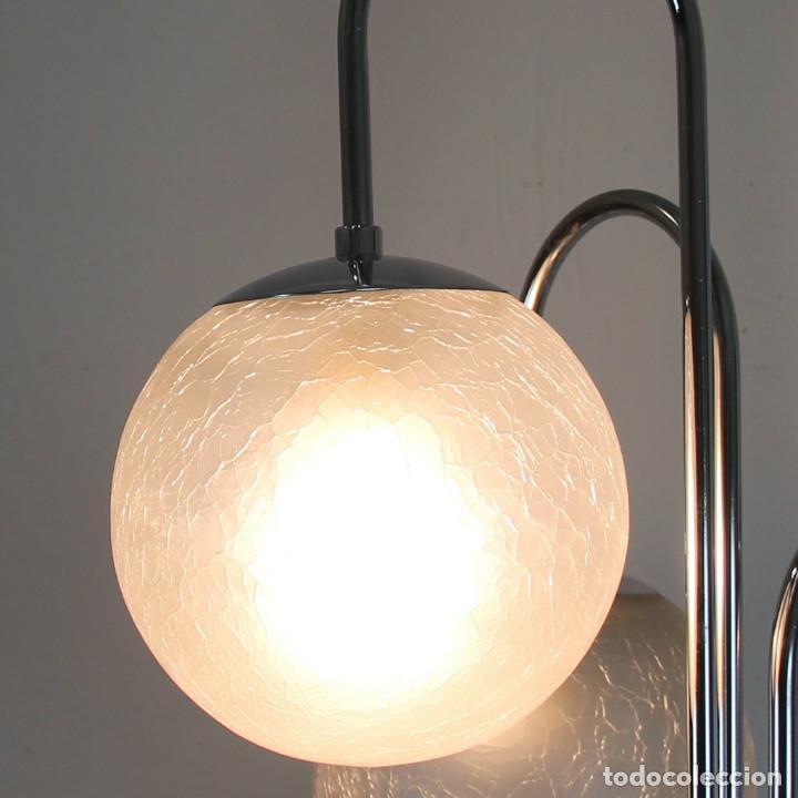 Antigüedades: Lámpara de pie de 5 tulipas. - Foto 5 - 145997326