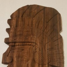 Antigüedades: TALLA DE INDIO EN MADERA. Lote 146010285