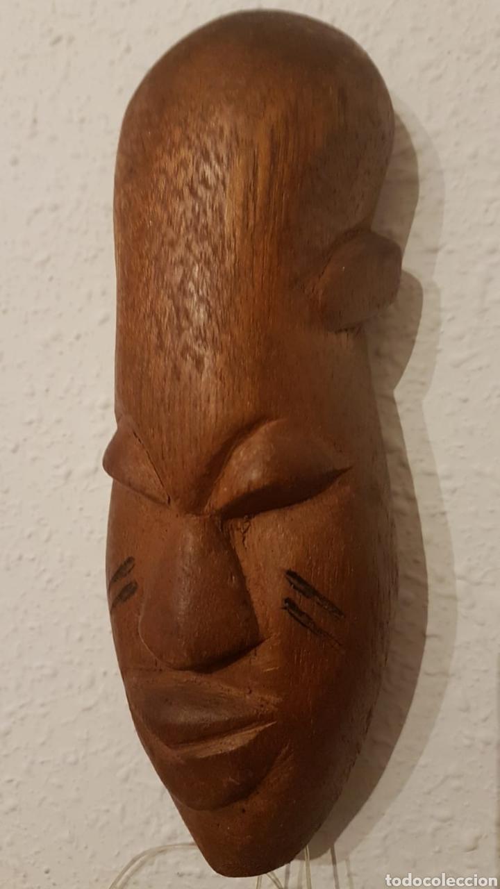 MASCARA AFRICANA DE MADERA (Antigüedades - Hogar y Decoración - Figuras Antiguas)