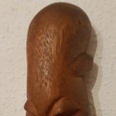 Antigüedades: MASCARA AFRICANA DE MADERA. Lote 146011289