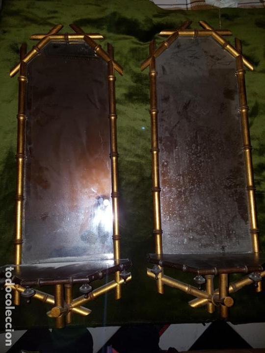 PAREJA DE CORNUCOPIAS. PRINCIPIOS DE SIGLO (Antigüedades - Muebles Antiguos - Cornucopias Antiguas)
