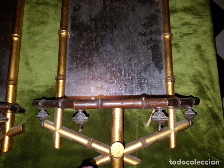 Antigüedades: PAREJA DE CORNUCOPIAS. PRINCIPIOS DE SIGLO - Foto 6 - 146022194