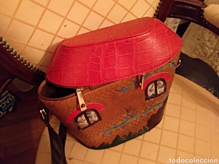 Antigüedades: Bonito bolso piel - Foto 2 - 146046646
