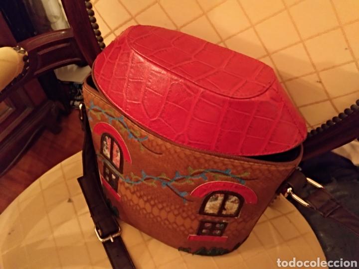 Antigüedades: Bonito bolso piel - Foto 3 - 146046646