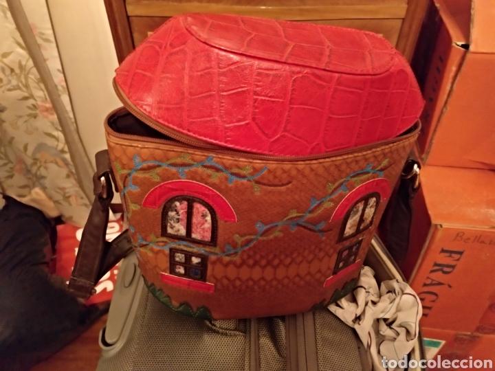 Antigüedades: Bonito bolso piel - Foto 4 - 146046646