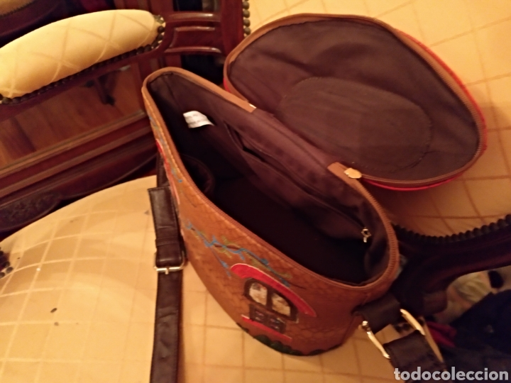 Antigüedades: Bonito bolso piel - Foto 5 - 146046646