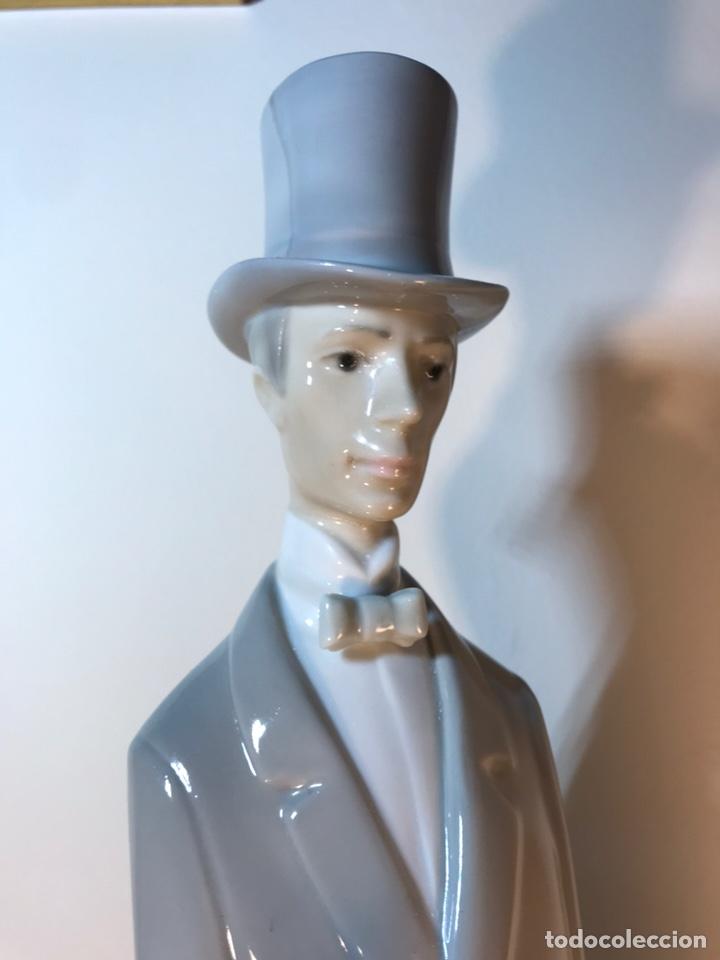 Antiques: Figura Porcelana- Lladró-Grupo con Sombrilla- 50 cm - Foto 7 - 146071933