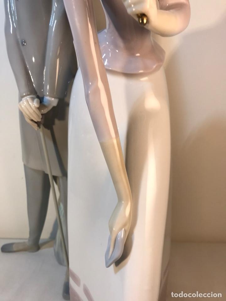 Antiques: Figura Porcelana- Lladró-Grupo con Sombrilla- 50 cm - Foto 16 - 146071933