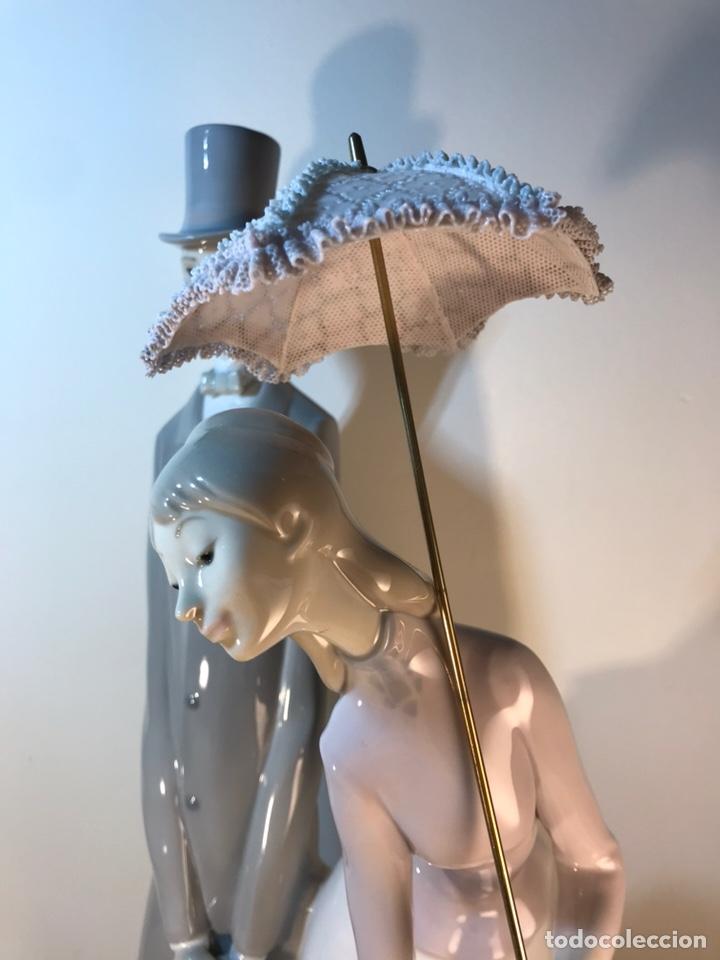 Antiques: Figura Porcelana- Lladró-Grupo con Sombrilla- 50 cm - Foto 18 - 146071933