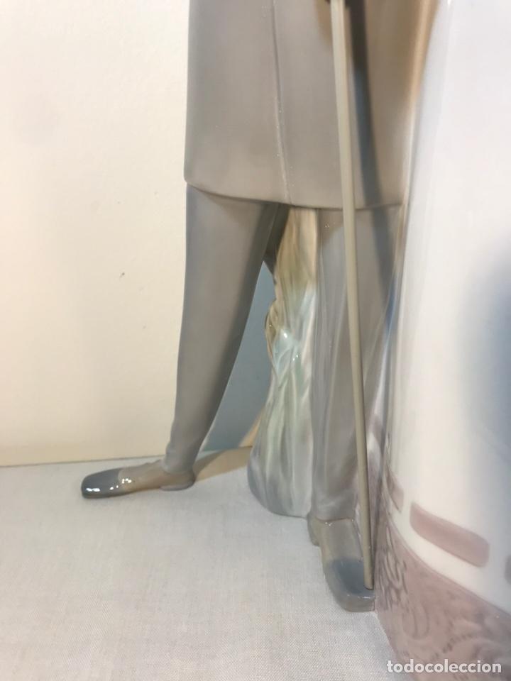 Antiques: Figura Porcelana- Lladró-Grupo con Sombrilla- 50 cm - Foto 19 - 146071933