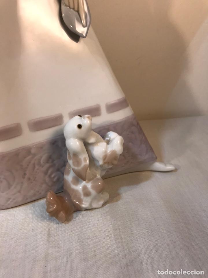 Antiques: Figura Porcelana- Lladró-Grupo con Sombrilla- 50 cm - Foto 29 - 146071933