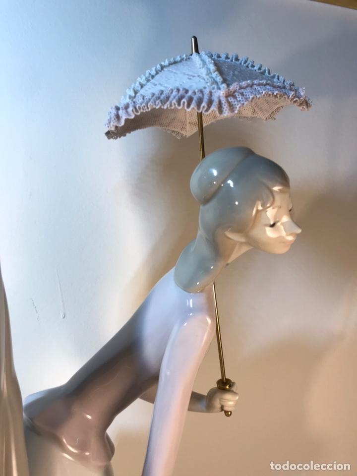 Antiques: Figura Porcelana- Lladró-Grupo con Sombrilla- 50 cm - Foto 32 - 146071933