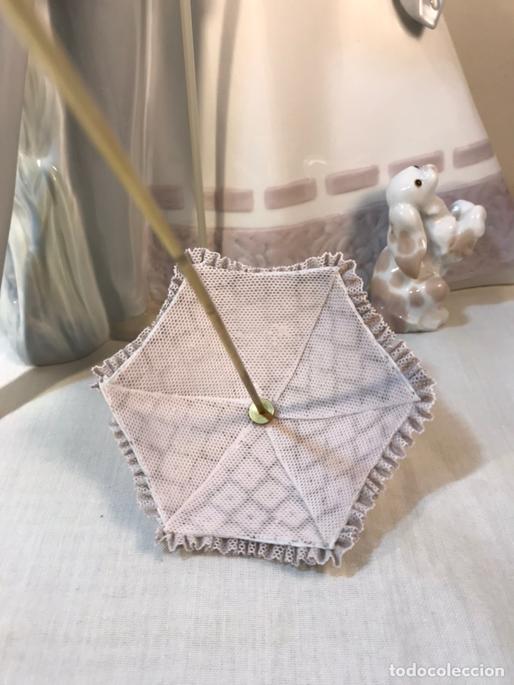 Antiques: Figura Porcelana- Lladró-Grupo con Sombrilla- 50 cm - Foto 35 - 146071933