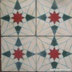 Antigüedades: 4 ANTIGUA RAJOLA HIDRAULICA CATALANA. Lote 146087750