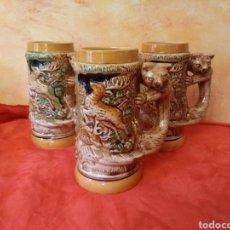 Antigüedades: LOTE DE JARRAS CON IMÁGENES DE CAZA. Lote 146094848