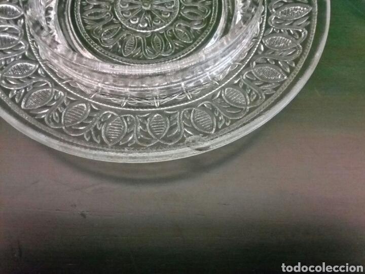 Antigüedades: Mantequillera o bombonera de cristal de principio del sigloXX - Foto 3 - 146115722