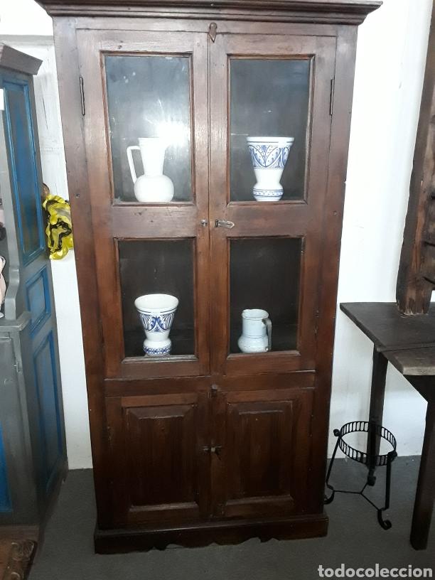 ALACENA O VITRINA (Antigüedades - Muebles Antiguos - Armarios Antiguos)