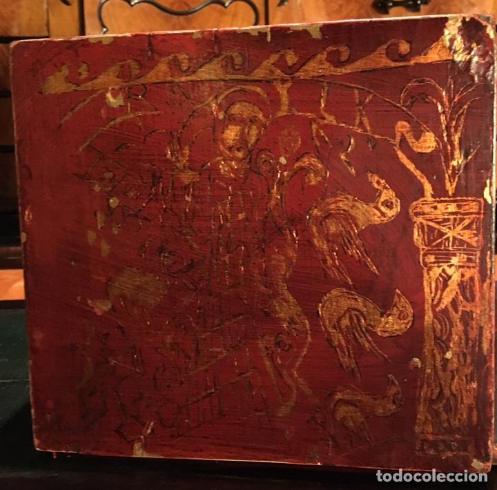 Antigüedades: Bargueño, cajón secreto, llave original. - Foto 8 - 134775359