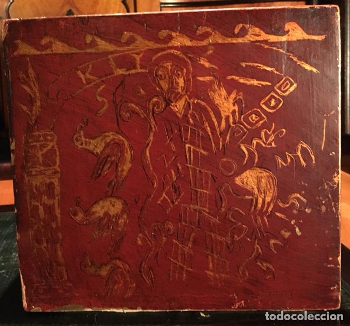 Antigüedades: Bargueño, cajón secreto, llave original. - Foto 9 - 134775359