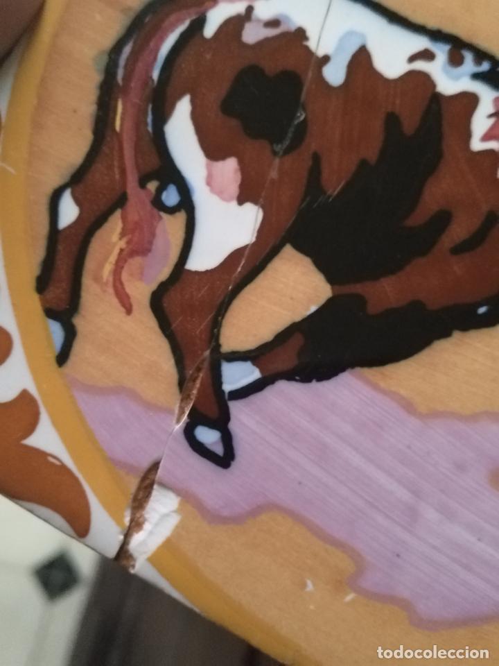 Antigüedades: antiguo azulejo pintado a mano tauromaquia toro torero matador banderillero toreo 15x15 cm sevilla ? - Foto 8 - 146201154