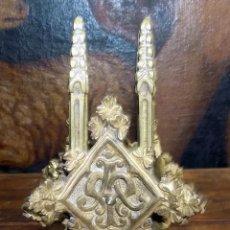 Antigüedades: TERMINACION BRONCE, PARA CAPILLA O SIMILAR, 13 CM , CUATRO LADOS VER FOTOS . W. Lote 146209930