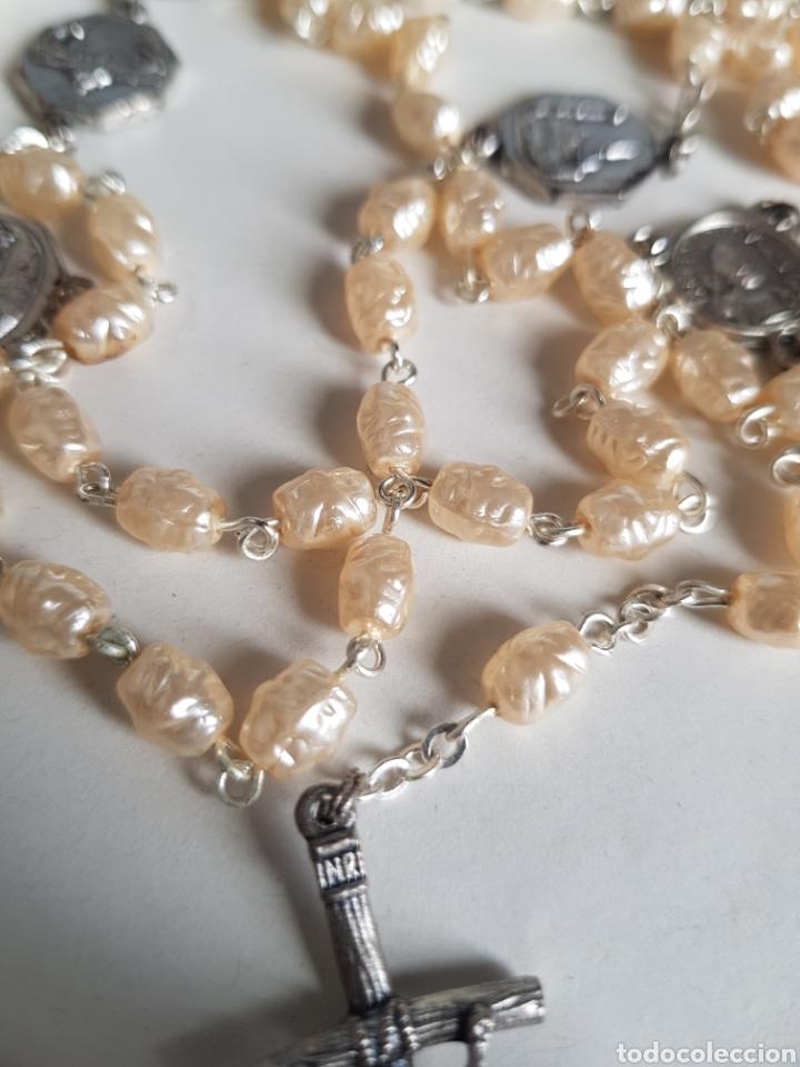 Antigüedades: Rosario perlas nacar - Foto 2 - 146228402