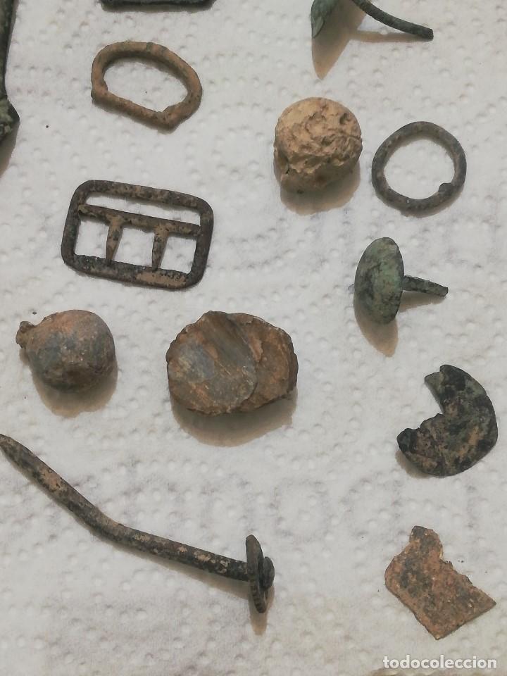 Antigüedades: LOTE DE ANTIGUOS DESHECHOS METÁLICOS - hebillas, munición, clavos, etc · peso: 337 gramos - - Foto 6 - 146240598