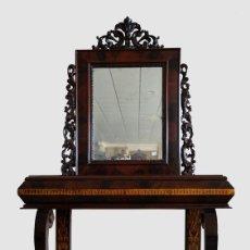 Antigüedades: CONSOLA ANTIGUA DE ESTILO FERNANDINO. PALO SANTO. Lote 118754851
