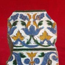 Antigüedades: AZULEJO MUDEJAR TRIANA O TOLEDO SIGLO XVI. Lote 146252550