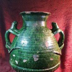 Antigüedades: AGUAMANIL CERAMICA CATALANA SIGLO XVIII--41 CM ALTO. Lote 148758553