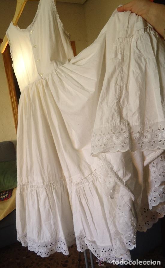 ENAGUAS BLANCAS PARA CHICA (Antigüedades - Moda - Otros)