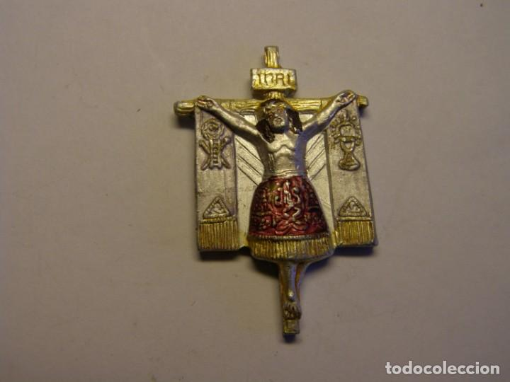 Placa Con Imagen De Jesucristo En La Cruz Comprar Antigüedades