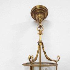 Antigüedades: LÁMPARA FAROL DE TECHO. Lote 146276010